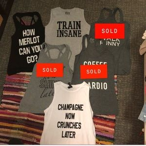 Tops - Funny workout tanks